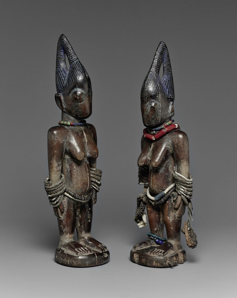 A pair of female ere ibeji. Shaki, Nigeria. Height: 29 cm. Image courtesy of Lempertz.