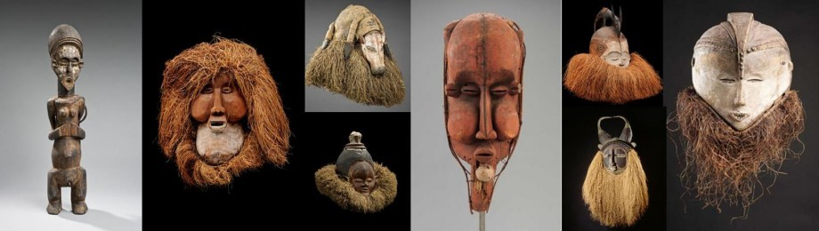 Giant Masks from the Congo Yaka Suku Belvue museum