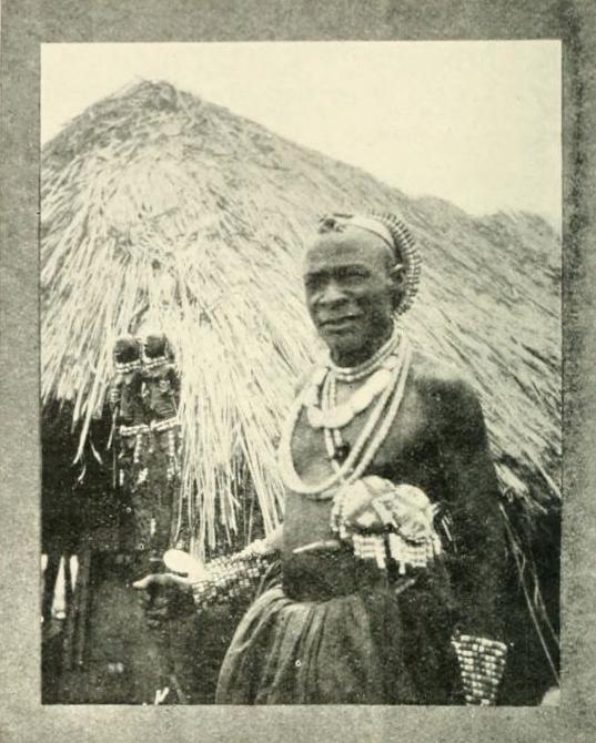 Luba chief Kilulwe Congo Burton staff