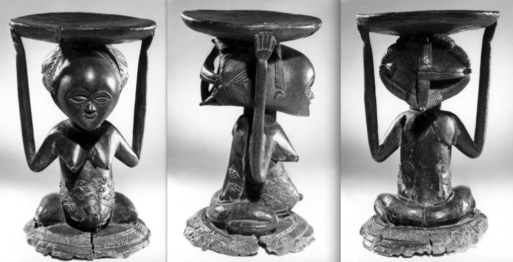 Luba stool Nkulu wood Burton