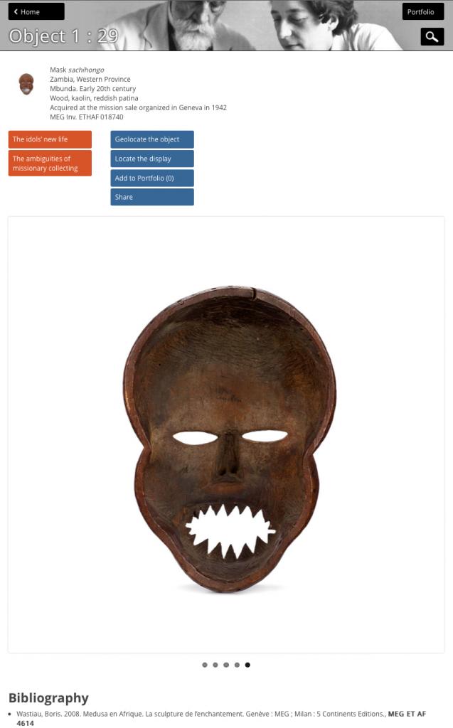 Sashihongo mask Zambia Genève