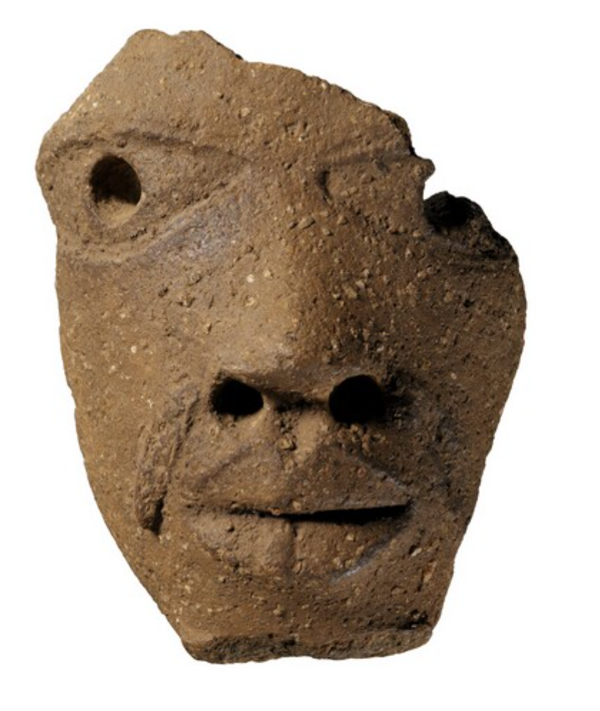 Nok head (Nigeria). Height: 15,5 cm. Ex Collection Musée Barbier-Mueller. Image courtesy of the Musée du quai Branly (73.1996.1.1).
