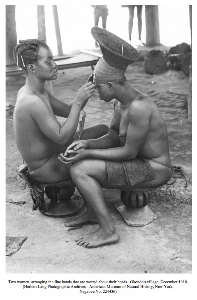 Mangbetu coiffure halo-like Herbert Lang Congo AMNH
