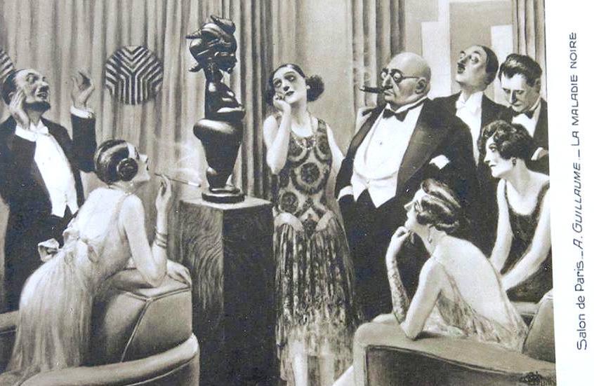 Salon de Paris La maladie noire Guillaume postcard Bruno Claessens