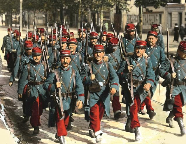 French infantry soldiers, anno 1914.