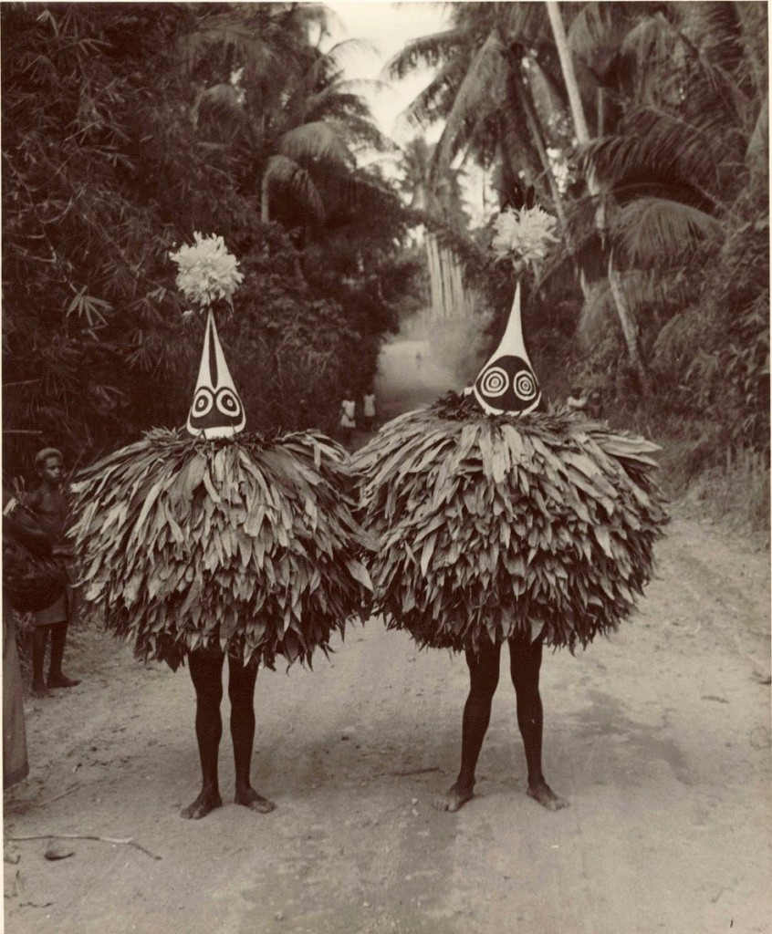 Duk-Duk Members, Papua New Guinea. Image courtesy of Maxwell R. Hayes, 1964.