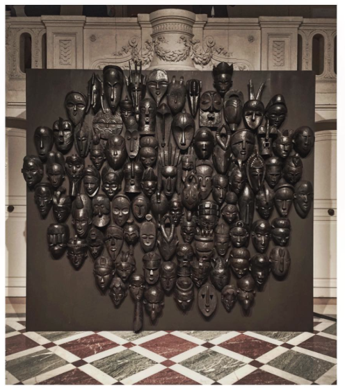 Maison Valentino Paris Fashion week 2015 African masks