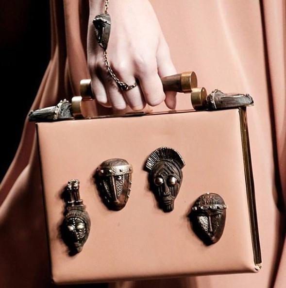 maison valentino african masks handbag 2015