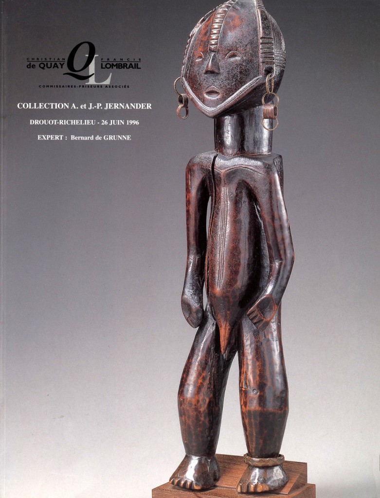 Jean-Pierre Jernander auction Drouot African art collection 1996