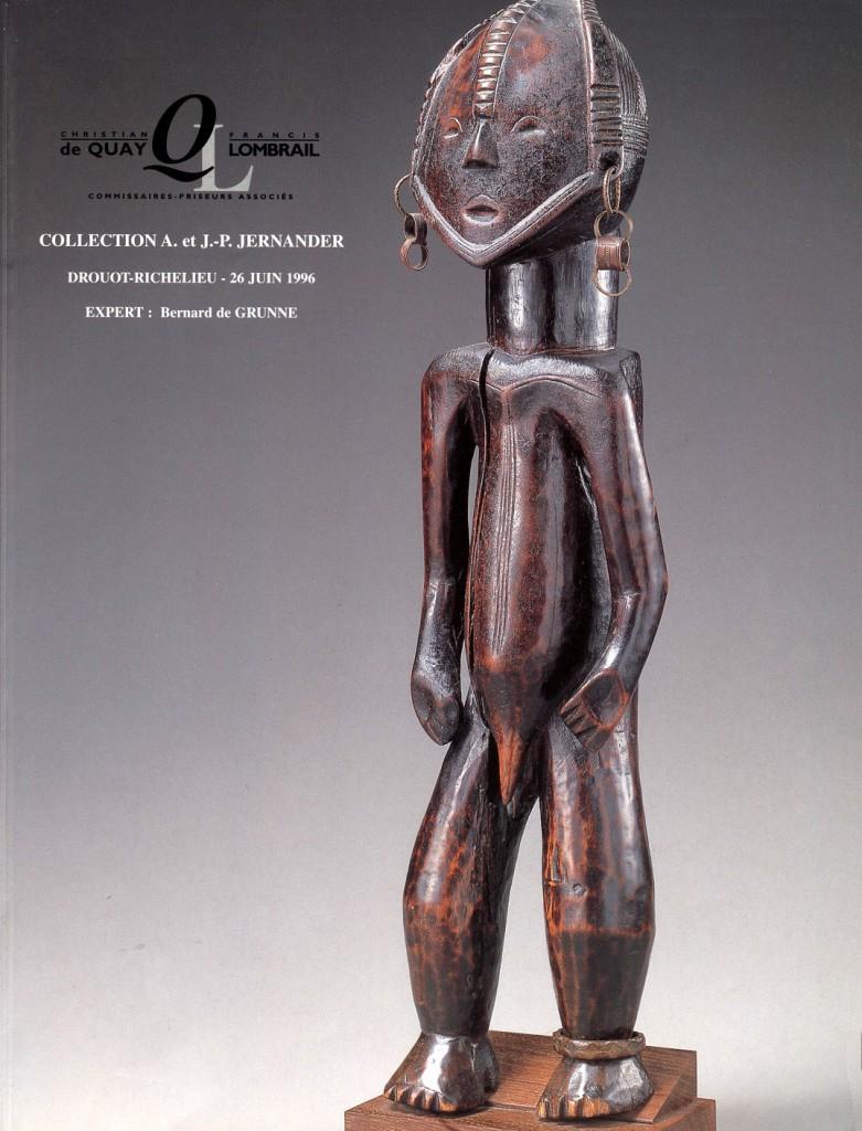 Jean-Pierre Jernander auction Drouot African art collection 1996
