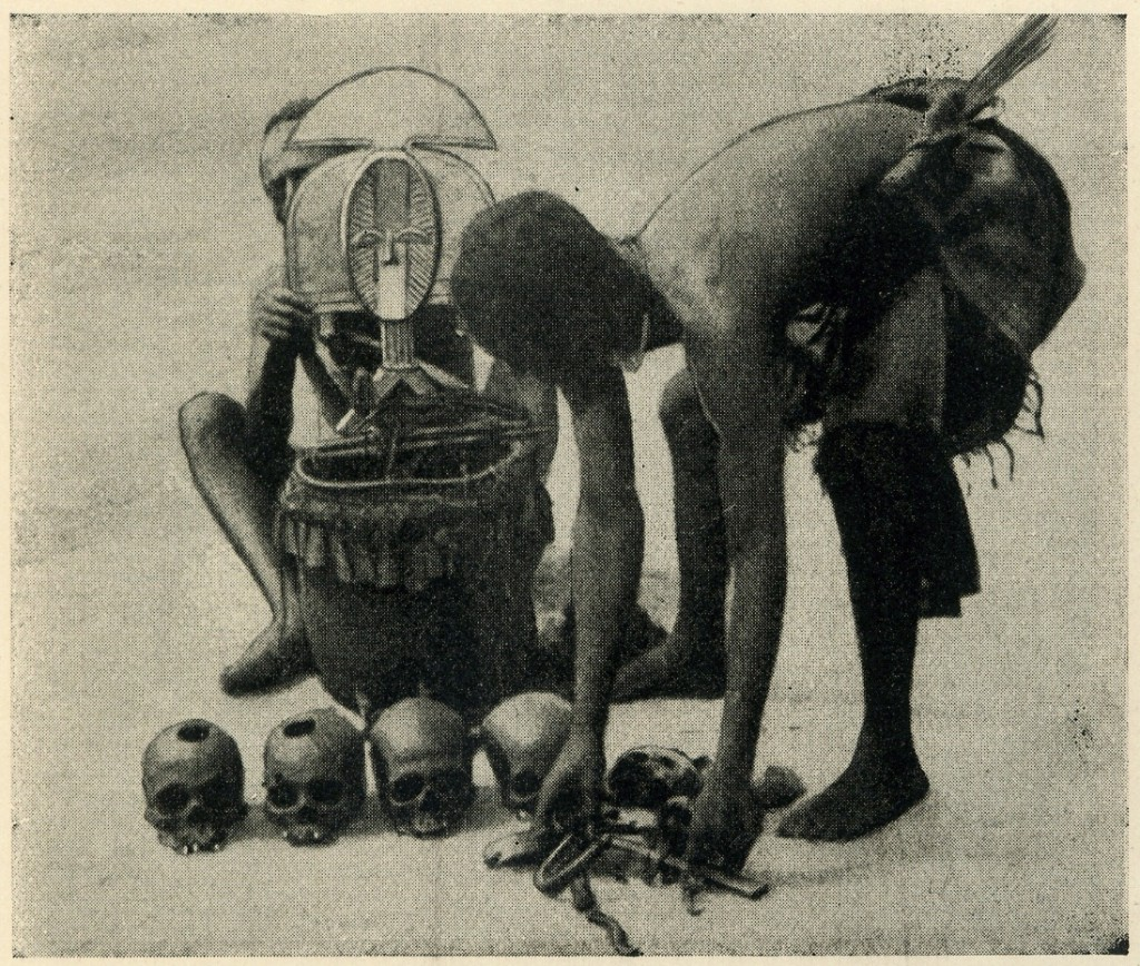 "Field-photo published in: Chauvet (Stephen), ""l'Art Funéraire au Gabon"", Paris: Maloine, 1933: p. 2, #3."