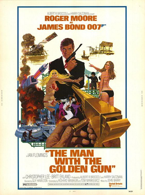 Roger Moore The Man with the Golden Gun African art