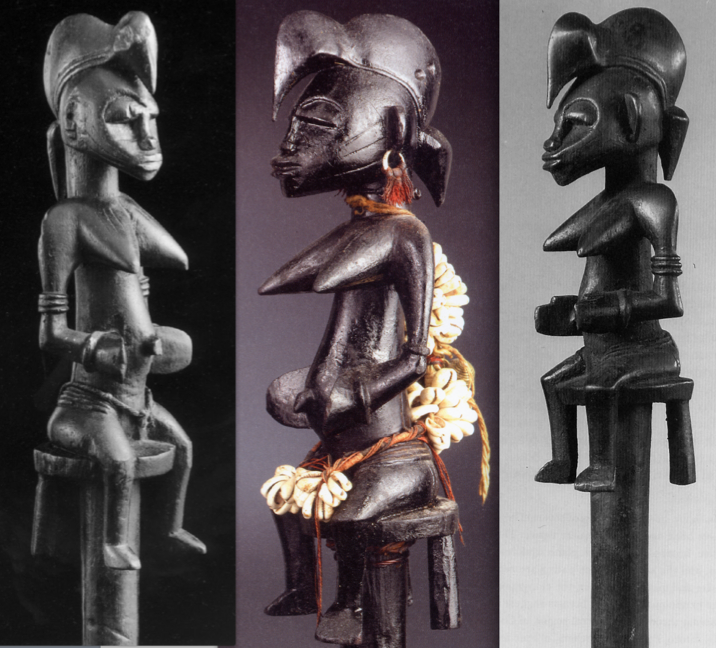Left: published in Afrikanische Kunst. Düsseldorf: Galerie Simonis, n.d. & right: published in: Sotheby's, New York, 14 November 1995. Lot 64.