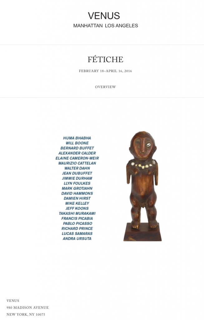 FÉTICHE Venus Adam Lindemann Lega figure MOMA African art