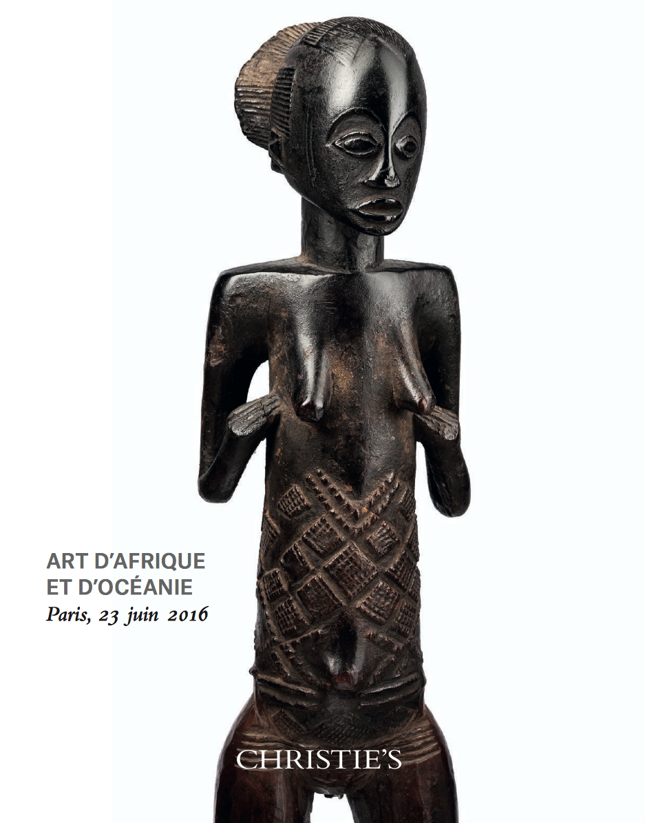 Christie's Paris 23 June 2016 Bruno Claessens African Art