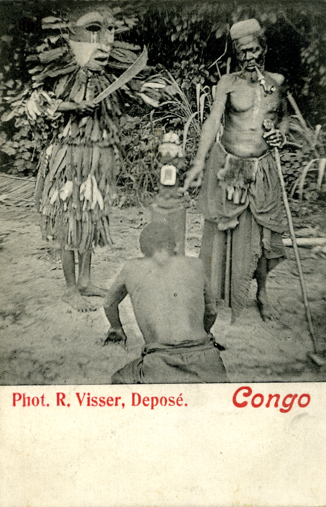 robert-visser-vili-mask-field-photo-postcard-congo