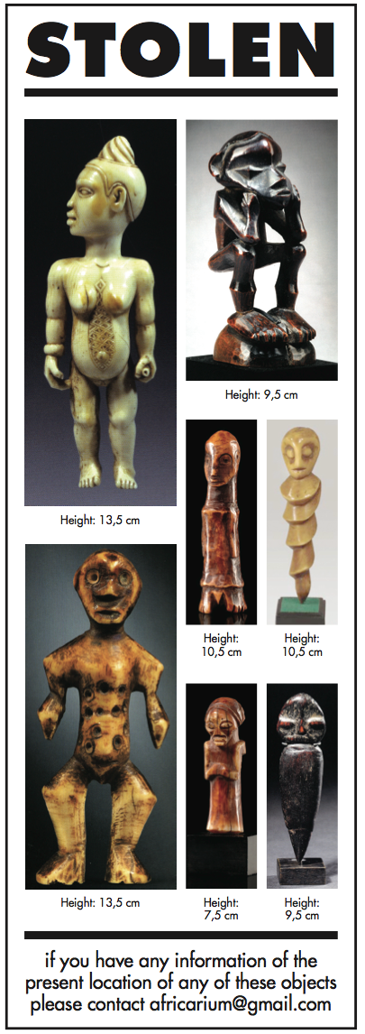 Stolen Africarium Collection African art