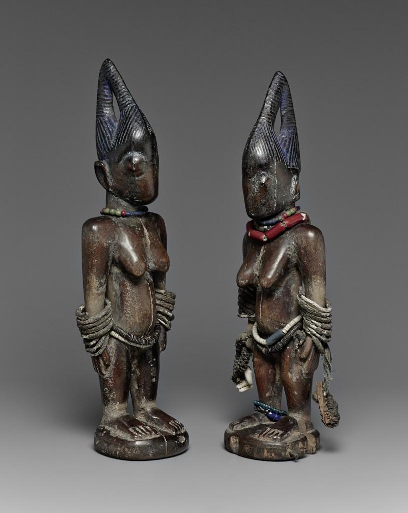 A pair of female ere ibeji. Shaki, Nigeria. Height: 29 cm. Image courtesy of Lempertz.