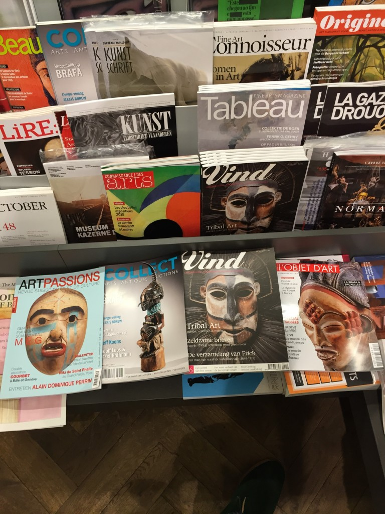 Tribal art in the press magazine covers