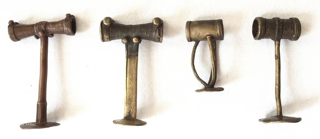 Tiv snuff ring Nigeria brass copper alloy Bruno Claessens