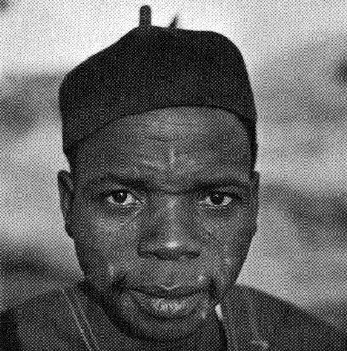 """Nigerian farmer, photographed by Fagg in 1960. Published in: Fagg (B.), """"Nok terracottas"""", Lagos, 1977: p. 27, fig. 21."""