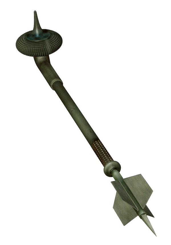 Gaderffii or gaffi stick used by the Tusken Raider from Star Wars.