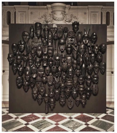 Maison Valentino Paris Fashion week 2015 African masks