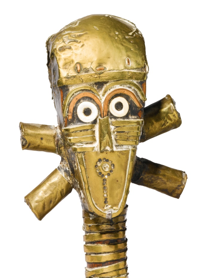 Detail of a Sango reliquary figure. Africarium Collection. Image courtesy of Sotheby's.