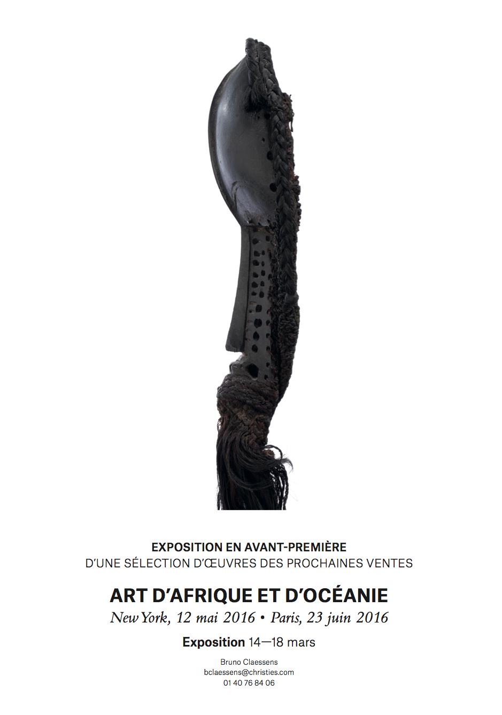 Christies Paris Preview May 2016 sale Rubinstein Dan mask