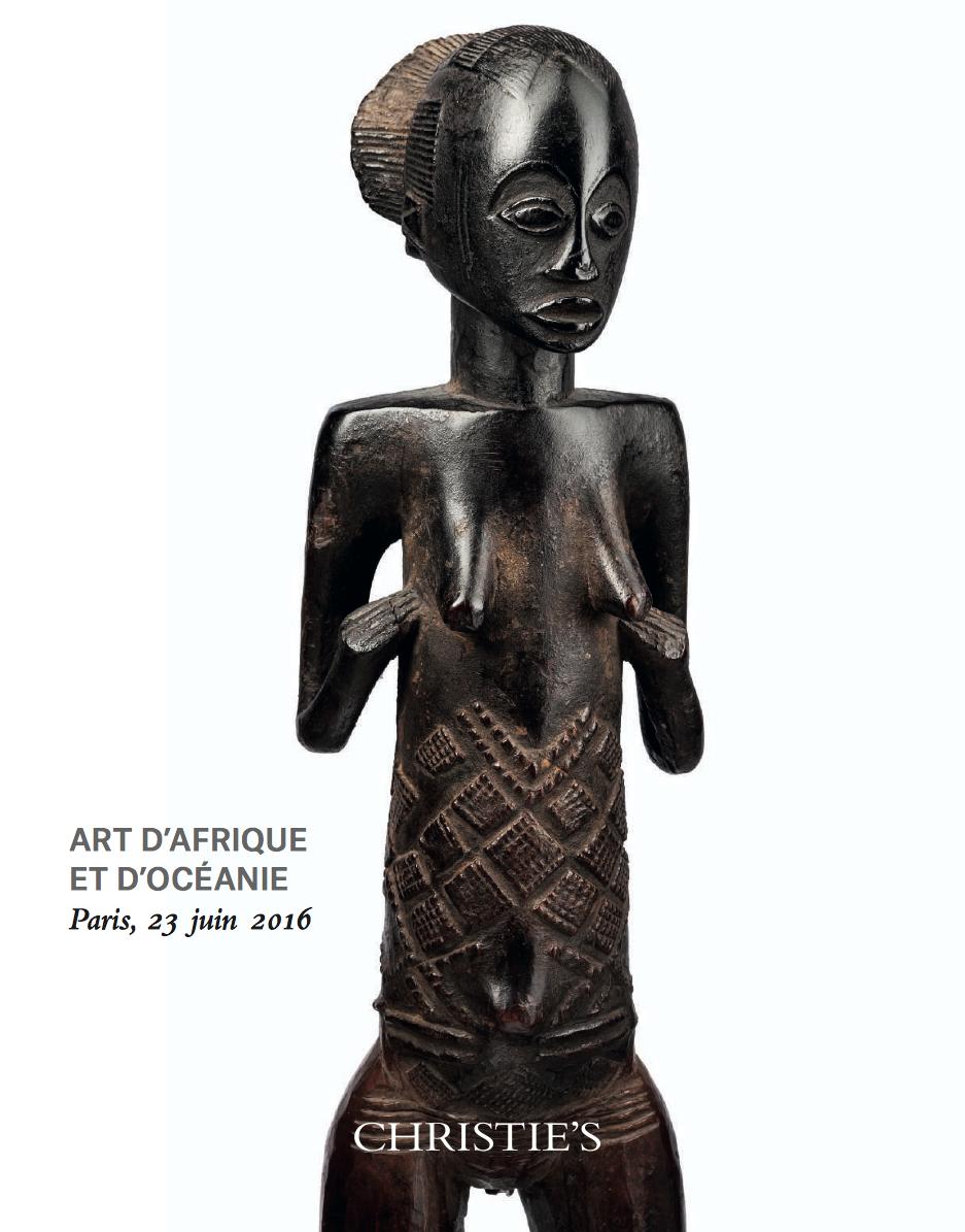 Christie's Paris 23 June 2016 Bruno Claessens African Art