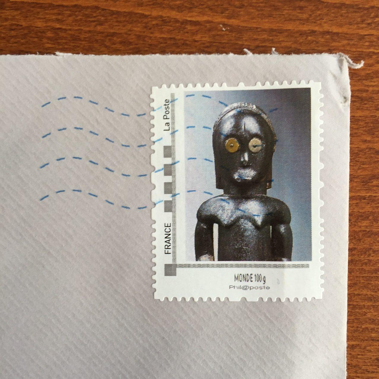 Stamp timbre Lucas Ratton Parcours des Mondes 2016
