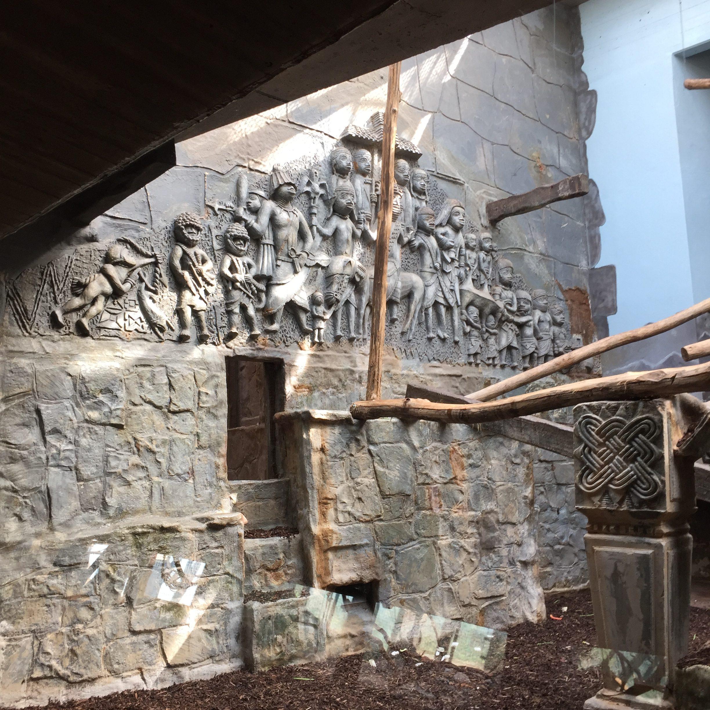 Antwerp zoo Benin Kingdom mural Bruno Claessens