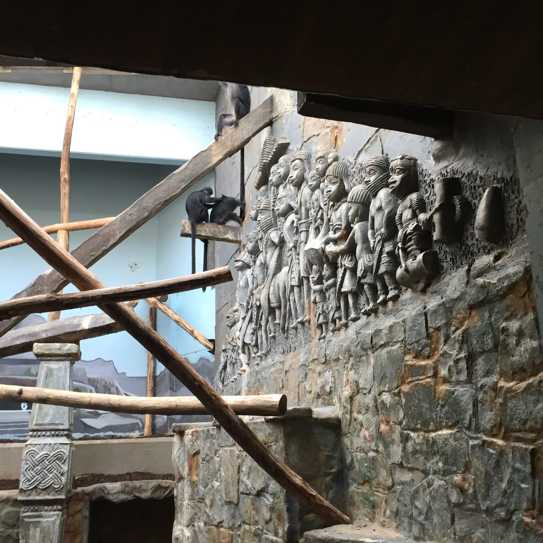 Antwerp zoo Benin Kingdom mural a